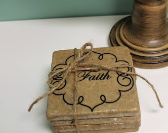 Faith, Love, Hope,Peace Coasters