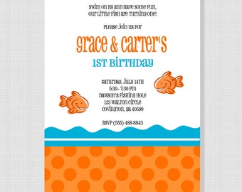Goldfish Collection: Printable Birthday Invitation