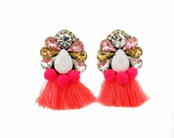 Minnie Earrings in Hot Pink