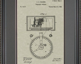 Stock Ticker Patent Art Wall Hanging  Broker Trader Gift C6157