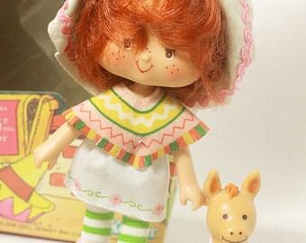 Vintage 1980s Kenner Strawberry Shortcake CAFE OLE doll w/ pet Burrito + Original Box Nice!, Vintage Strawberry Shortcake, 80s toys, ssc