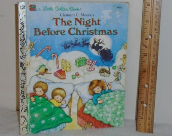 Little Golden Book The Night Before Christmas 1987 #450-11 ~Clement Moore