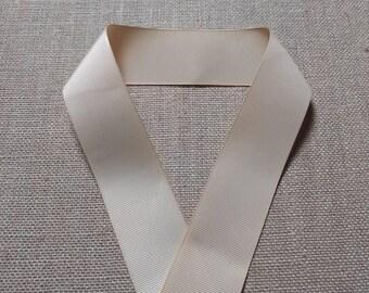 "Tan Grosgrain Ribbon, 1.5 Inch Ribbon, Solid Color Ribbon, Sewing Ribbon, Craft Ribbon, Hairbow Ribbon, Scrapbook Ribbon, 1 1/2"" Tan Ribbon"