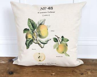 Apple Botanical Pillow Cover