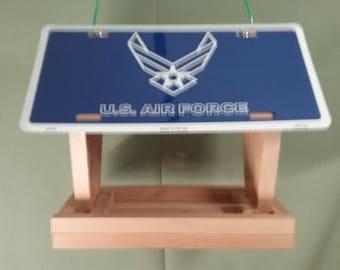 United States Air Force license plate bird feeder (2)