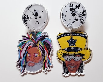 Funkadelic Large Dangle Earrings
