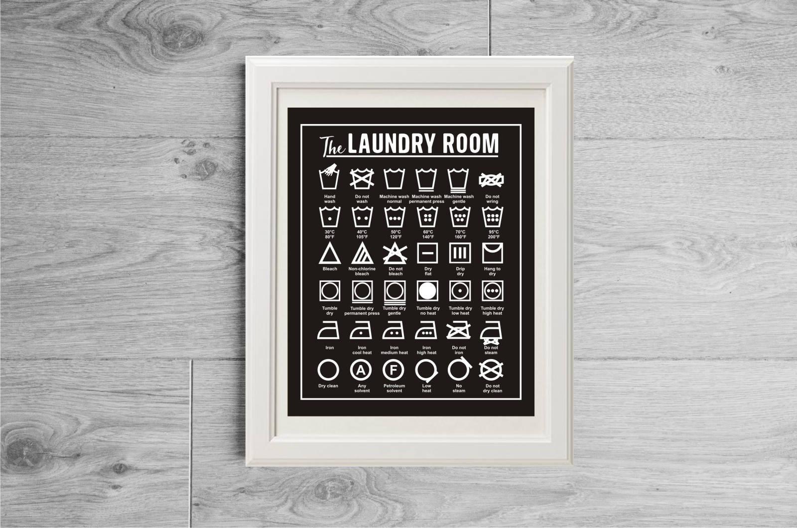Laundry guide wash symbols print laundry symbols poster zoom biocorpaavc Gallery