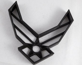 U.S. Military Air Force Logo Cookie Cutter | Black Air Force Cookie (3D Printed)