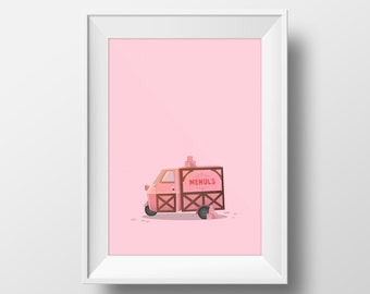 Mendl's Van - The Grand Budapest Hotel Poster