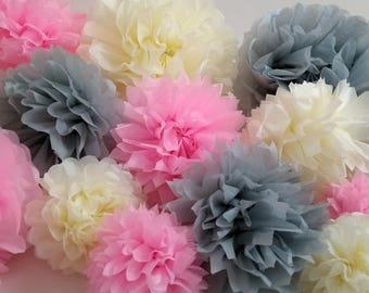 Wedding Backdrop, Pink Pom Poms, Wedding Decorations, Party Decorations, Baby Shower Decoration, Home Decorations, Marquee Decorations.