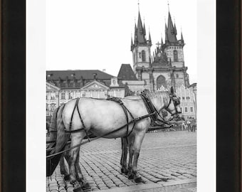 Prague Print, Prague Photography, Old Town Prague, Tyn, Travel Print, Black and White Fine Art Photography, Fairytale Print