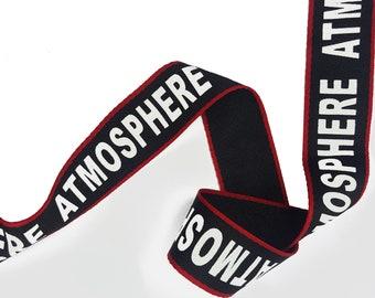 Striped Printed Black Red White Graphic Ribbon Trim