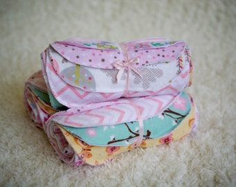 12, Baby Wipes, Baby Washcloth, Reusable, 2- ply, Diaper Wipes, Washcloth, Girl, Baby Shower Gift, Cloth Baby Wipes, Reusable Baby Wipes