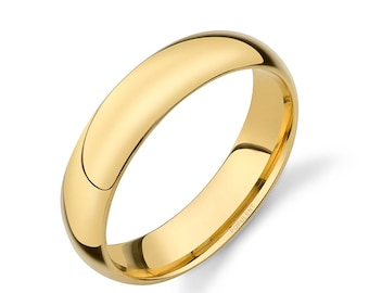 plain s gold womens comfort wedding com amazon and band women bands fit men dp yellow