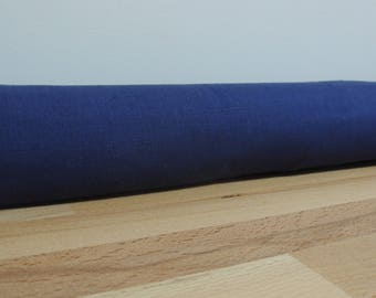 Linen draft Stopper. Door or window snake. Draught excluder. home accessory.eco friendly energy saver. Royal navy blue / ink blue linen