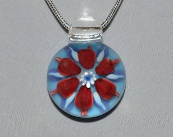 Boro Glass Pendant - Hand Blown Lampwork Jewelry - Glass Necklace