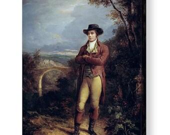 Robert Burns the Poet painted by Alexander Nasmyth Canvas Box Art A4, A3, A2, A1