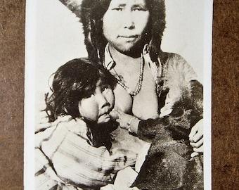 RPPC Postcard, Eskimo Pie, Indian Maiden Nursing Children