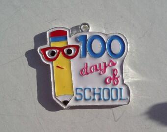 40mm. School Days Enamel Pendant,  P26
