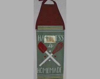 Kitchen Towel - Quilted Top with Ties - HOMEMADE HAPPINESS - Baking - Plush