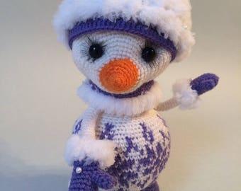 Amigurumi crohet Snowman