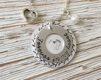 Infant Child Loss, Memorial Jewelry, Miscarriage Necklace, Remembrance Jewelry, Hand Stamped Jewelry, Memorial Necklace, Miscarriage Jewelry