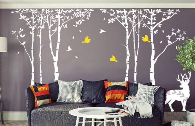 Autocollant de mur grand arbre arbre mural Stickers arbre