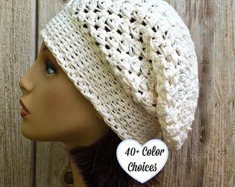 Tuque de coton doux, remonté au Crochet, chapeau de printemps, coton chimio chapeau, chapeau de chimio d'été, chapeau de chimio, chapeau d'été pour femmes, dentelle chapeau d'été