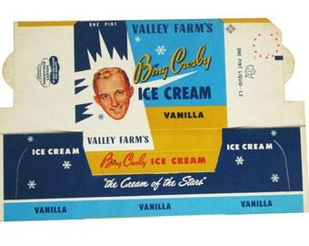 1950s Ice cream box