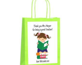Downloadable Personalised/customised Label Thank you Teacher Printable, Digital