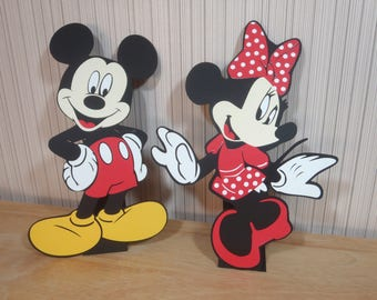 Mickey Mouse Party Decorations Centerpiece Table Decor Mickey Mouse Birthday Die Cut Mickey by FeistyFarmersWife