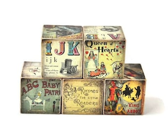 Vintage Blocks Childrens Books Wooden Blocks