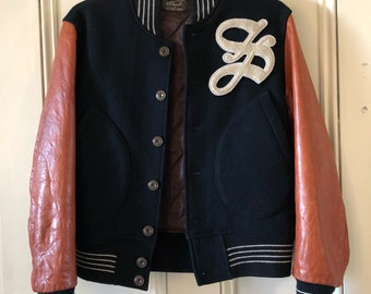 Vintage varsity jacket college bomber jacket