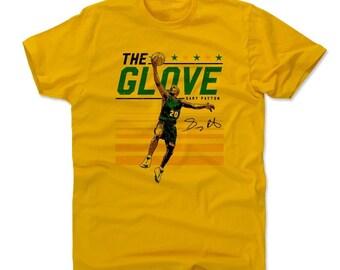 Gary Payton Men's Cotton T-shirt - Seattle Throwbacks Gary Payton Layup Seattle