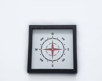 Compass | 3D Stencil Art | Shadow Box