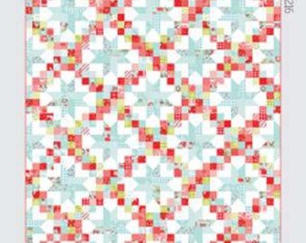 "New Thimble Blossoms, Patchwork Sky, New Quilt Pattern #216, Features Upcoming Holiday  2018, 72"" x 84"",  Just Featured Houston Quilt Show"