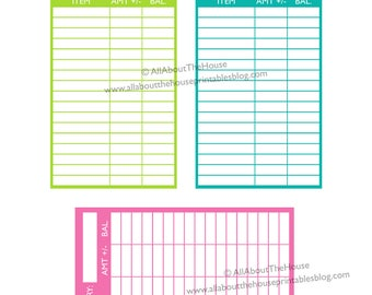 Cash envelope budgeting printable color coded expense category finance tracking money management savings tracker INSTANT DOWNLOAD