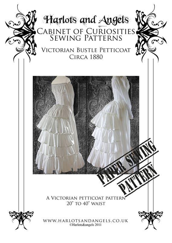 Steampunk Sewing Pattern Victorian Bustle Skirt Skirt
