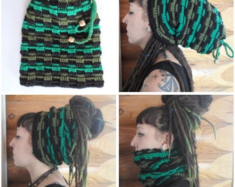 Hat for dreads 206 produced entirely by hand crochet!