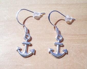 Anchor Earrings, Nautical Earrings, Boater Earrings, Charm Earrings, Jewelry Findings