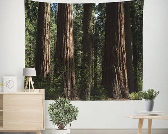 Forest Wall Tapestry, Redwood Trees Tapestry, California Wall Art, Forest Bedroom, Forest Wall Art, California Tapestry, Sequoia Trees
