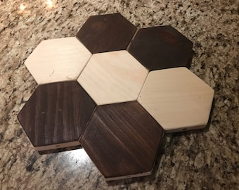 Magnetic Wooden Coaster (Lot of 7)