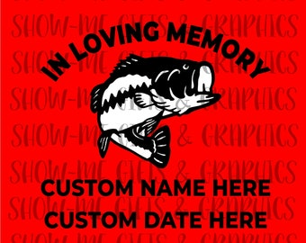 In Memory Of Bass SVG/EPS/png/jpg/Cricut/Silhoutte/Decal files/Digital Bass In Memory Of/In Memory of Bass decal cutout