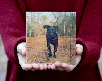 Personalized Wooden Photo • Dog Gift • Pet dad • Photo to wood • Personalized Gift For Boyfriend • Photo Gift For Him