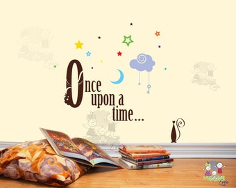 wall decals quote - Once Upon a Time - Inspirational Quotes Wall Decals - TXOU010