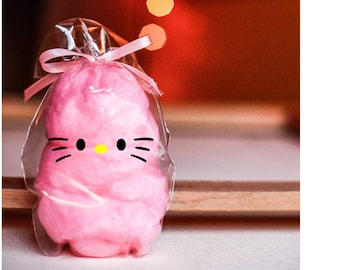 Cotton Candy Kitty Party Favors- Kitty Treat bags- Kitty Birthday Party, Cat Birthday Party , Kitty Theme, Cat Party, Cat Party Decoration