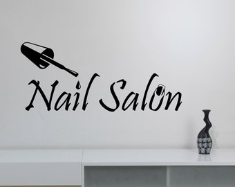 Nail Salon Sign Wall Decal Vinyl Window Sticker Manicure Fashion Art Decorations for Office Spa Beauty Hair Salon Room Decor nsl2