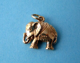 Bronze  Indian Elephant Pendant or Charm