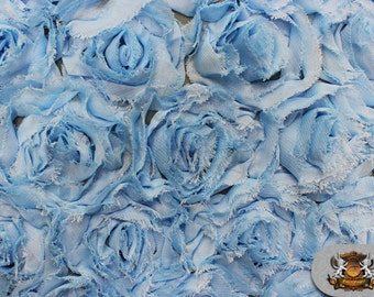 """Mesh Rosette Fabric LIGHT BLUE / 54"""" Wide / Sold by the yard"""