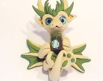 Coffee lover dragon